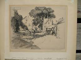 NOTED AMERICAN ARTIST IVAN SUMMERS (1889-1964) PENCIL SIGNED ETCHING |  #400951619