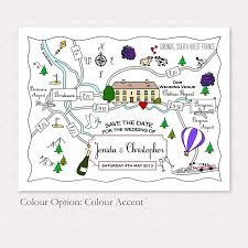 Print Your Own Save The Date Print Your Own Colour Wedding Or Party Illustrated Map