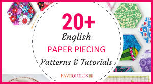 Paper Piecing Patterns Mesmerizing 48 English Paper Piecing Patterns And Tutorials FaveQuilts