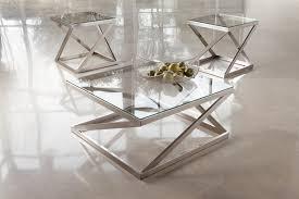 brushed nickel coffee table legs