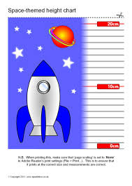 Space Themed Childrens Height Chart Sb4890 Sparklebox