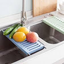 retractable stainless steel sink draining rack kitchen dish vegetable fruit drying rack feeding bottle holder rack