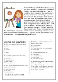 Comprehension Worksheet For 1st Grade Y2p3 The Painted Desert 2nd ...
