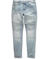 moto denim jeans. elwood moto indigo denim jeans zumiez