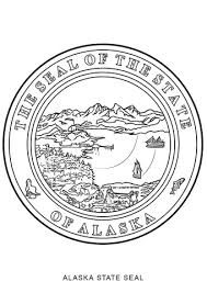 Small Picture Alaska State Seal coloring page Free Printable Coloring Pages