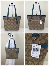 ... Image is loading NWT-COACH-F55364-OUTLINE-SIGNATURE-ZIP-TOP ...