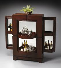 Living Room Bar Cabinet Living Room Modern Living Bar Room Design With Open Flooring View