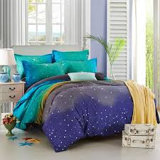 whole hot moon stars space design bedding sets wedding gift bedclothes duvet cover set 45 cover ghost gifts glitter gift bear