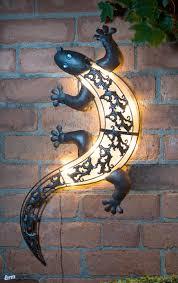 Solar Light Gecko Wall Art Solar Light Gecko Wall Art Inspiration Gardening