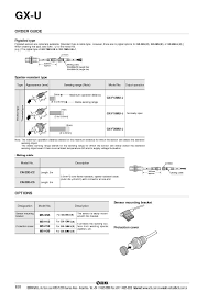 gx u series dc 2 wire cylindrical inductive proximity sensor gx u series dc 2 wire cylindrical inductive proximity sensor page3 5239244 gx u series