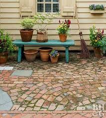 how to build a broken brick patio