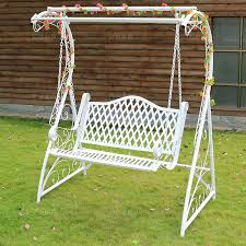 iron swing chair white wrought iron double swing outdoor garden patio balcony indoor basket rocking chair leisure hammock in hanging baskets from home