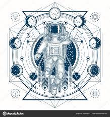 ᐈ татуировка астронавта векторные изображения рисунок астронавт