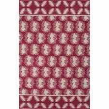 pink area rug 5x8 rugs floor coverings flat weave tribal pattern ivory white cotton