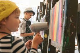 kids painting works