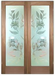 glass etching designs for doors etched design exterior frosted hibiscus