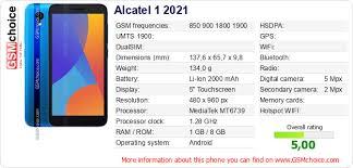 site Alcatel 1 2021 :: GSMchoice.com