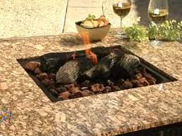 uniflame fire pit. Uniflame Granite Table Propane Fire Pit - Product Review Video W