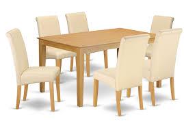 Winston Porter Brandi Kitchen Table 7 Piece Solid Wood Dining Set