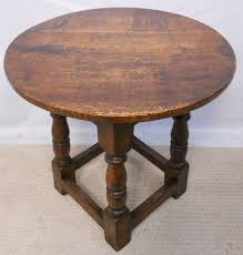 living room furniture interior bedroom small round bedside table antique brown polished teak wood carving legs