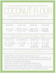 Flour To Coconut Flour Conversion Chart Almond Flour To Coconut Flour Conversion Chart