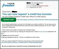 ask for a credit limit increase chase line of credit increase finance information