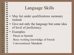 Special Skills And Qualifications Summarize Your Special Skills Or Qualifications Magdalene