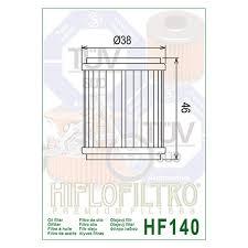 Hiflo Oil Filter Fitment Chart Hiflofiltro Hf140 Premium Oil Filter