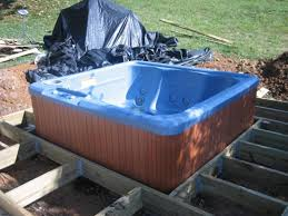 hot tub deck. Step 1 Hot Tub Deck