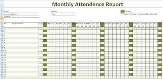 Attendance Chart Templates - Fast.lunchrock.co