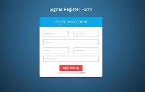 Signer Register Form