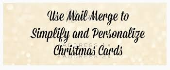 How To Address A Christmas Card Address Your Christmas Cards With Mail Merge Simply Darr Ling