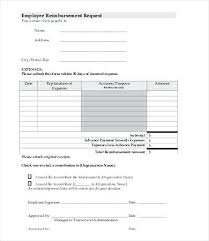 Expense Reimbursement Form Template Download Excel Employee Sheet