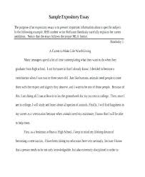 Sample Expository Essay Expository Essay Examples For High School Writings And