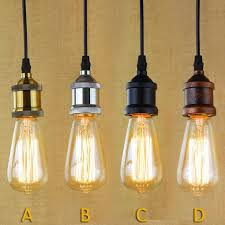edison bulb pendant lighting. Perfect Bulb Single Edison Bulbs Pendant Lights Vintage E27 Light Cafe  Bar  Free Shipping Intended Bulb Lighting N