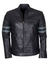 Designer Black Leather Jacket Designer Mens Retro Black Leather Jacket