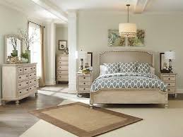 VISTA 5PCS TRADITIONAL Antique White Bedroom Set Furniture w/ Queen ...