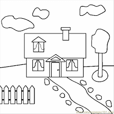 Small Picture House Coloring Page Free Houses Coloring Pages