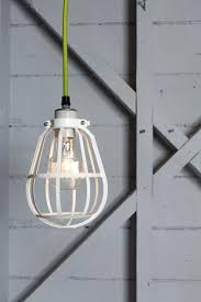 industrial cage lighting. Industrial Modern Pendant - White Cage Light Lighting