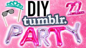 Diy Birthday Decorations Diy Tumblr Summer Birthday Treats Decor More Youtube