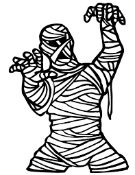 Small Picture Mummy Coloring Page Scary Mummy