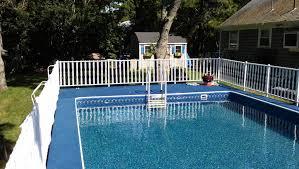 aqua sports admirals walk rectangular aluminum pool