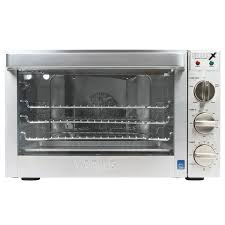 the waring wco500x half size heavy duty convection oven has the versatility of four cooking methods with this oven you have the option to choose convention