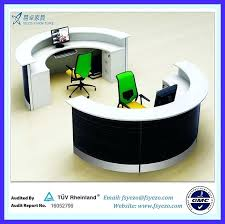 round office desk. small round office conference table home desk half reception with 70mm partition curved photo