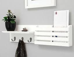 white key holder mail rack wall mount
