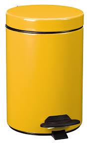 toilets cyjeu pedal bin 3l mustard