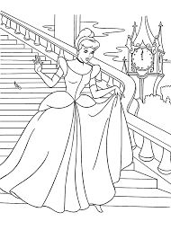 Cinderella At The Ball Coloring Pages