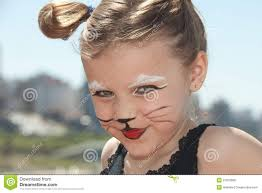 little with kitty cat make up