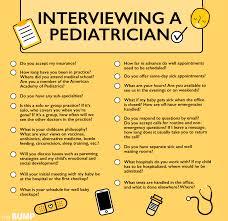 Doctors Interview Questions Checklist Interviewing A Pediatrician