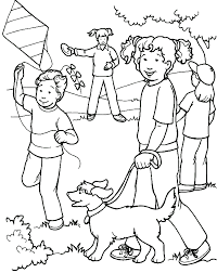 Kinderen Kleurplaten Buitenspelen